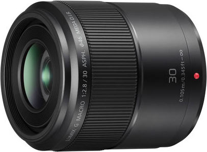 LUMIX G MACRO 30mm / F2.8 ASPH. Lens with MEGA O.I.S.: Model H-HS030