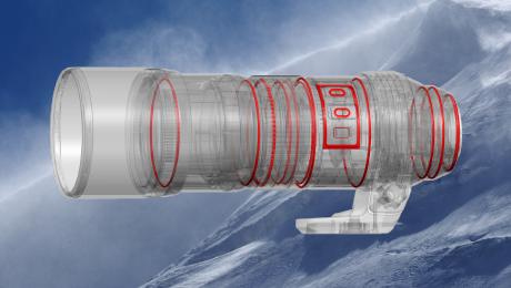 Olympus M.ZUIKO Digital ED 300mm F4.0 IS PRO: The hermetic sealing in 17 locations for dustproof and splashproof performance