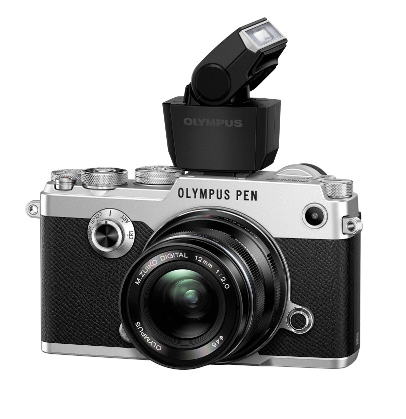 Olympus PEN-F with external flash FL-LM3 and M.ZUIKO 12mm F2