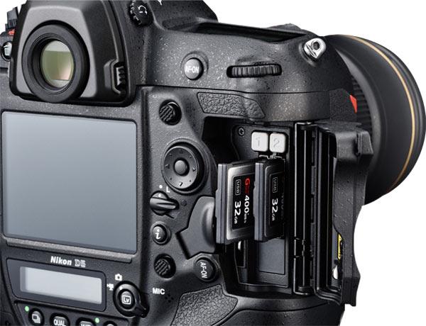 Nikon D5 card slots