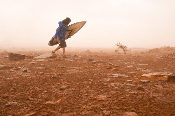 Jody MacDonald, the award-winning photographer accompanied surfer Chris Avens on his gruelling journey from the Mauritanian Desert to the Indian Ocean. Image by Jody MacDonald