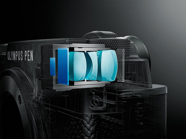 Olympus PEN-F, silver: a built-in OLED electronic viewfinder
