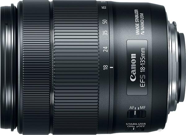 EF-S 18-135mm f/3.5-5.6 IS Nano USM lens