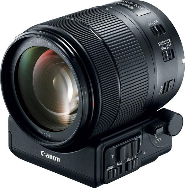 Canon EF-S 18-135mm Nano USM Lens and Power Zoom Adapter PZ-E1
