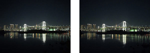 No drop in image quality from the IMX230 predecessor model (Left: 1.12μm unit pixel size) to the IMX318 (Right: 1.0μm unit pixel size), despite the latter's smaller size