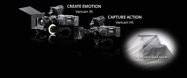 Panasonic: VariCam 35 (left) and VariCam HS (middle) and the next-generation VariCam (right)