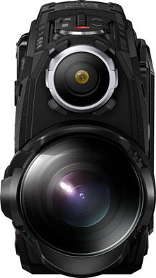 Olympus Stylus Tough TG-Tracker, black: LED headlight is above the lens