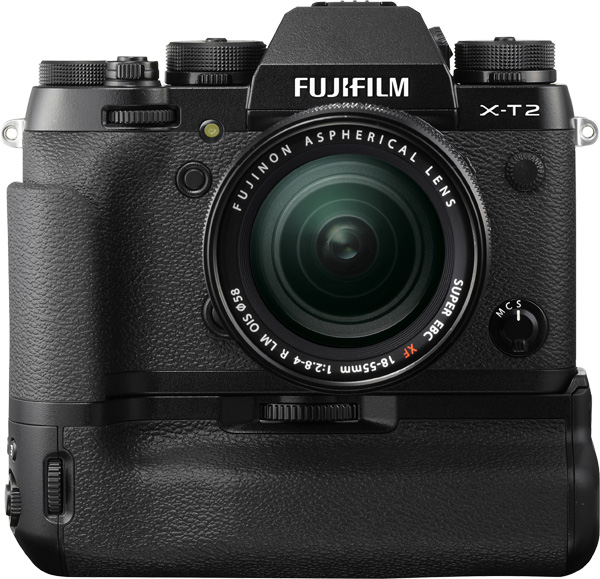 Fujifilm X-T2 with optional Vertical Power Booster Grip