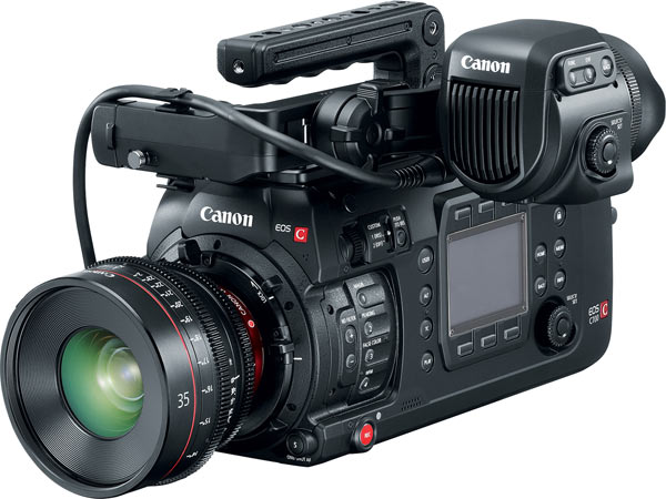 Canon EOS C700 with CN-E35mm T1.5 L F lens Canon EOS C700 CN E35 (CN-E35mm T1.5 L F lens) and OLED 1920×1080 Electronic View Finder EVF-V70