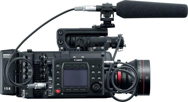 Canon EOS C700 with CN-E35mm T1.5 L F lens and Remote Operation Unit OU-700