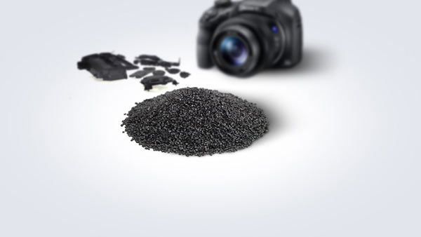 Since it was introduced in 2011, a recycled plastic called SORPLAS™ – Sustainable-Oriented Recycled Plastic, developed in-house – is used in many Sony products. And starting this fall, other manufactures can also use this remarkable material. Image courtesy of Sony