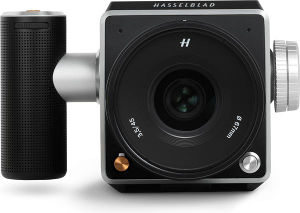 Hasselblad V1D 4116: The left and right hand surfaces have round fixings for controls and grips.