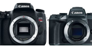 Canon EOS Rebel T6s and EOS M5