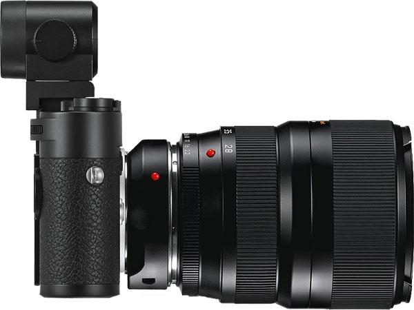 Leica M10 Leica M10 (black chrome finish) with optional Visoflex EVF