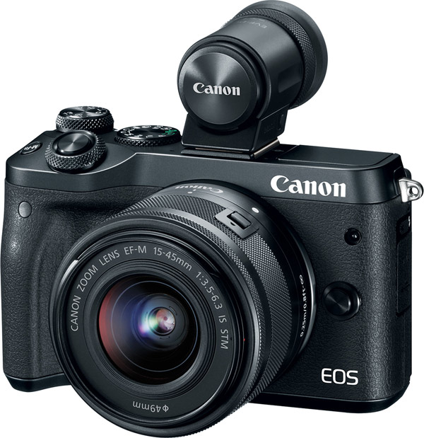 Canon EOS M6 with EVF-DC2 black