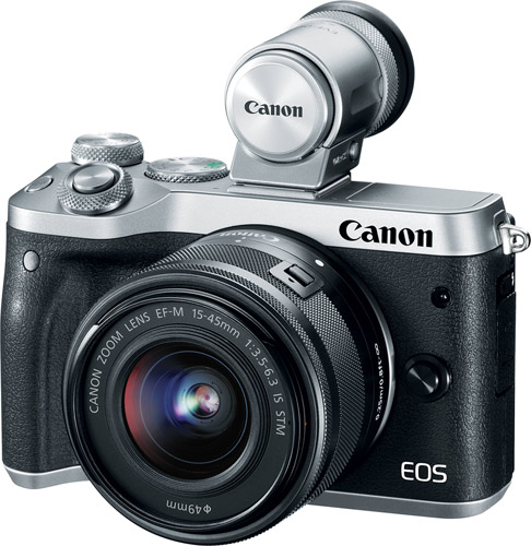 Canon EOS M6 with EVF-DC2, silver