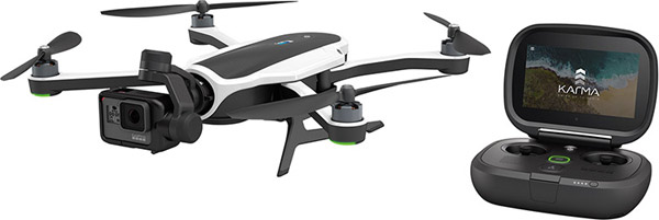 GoPro: Karma Drone with HERO5 Black Camera (left) and Karma Controller (right)