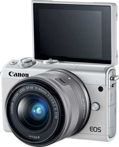 Canon EOS M100, white: Self-Portrait Mode