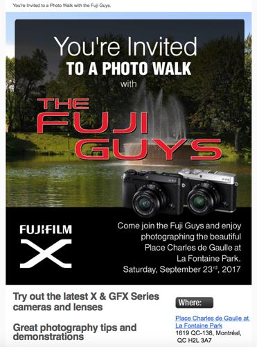 Fujifilm Canada: Montreal Event & Photo Walk