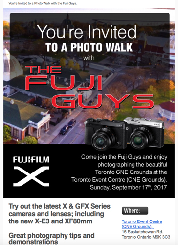 Fujifilm Canada: Toronto Event & Photo Walk