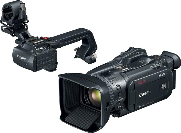 Canon XF405 and detachable handle