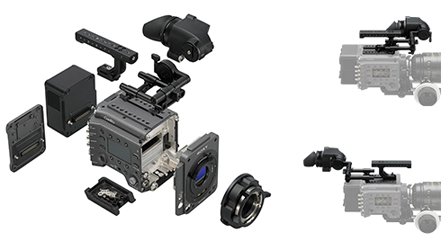 Sony VENICE is Easily Configurable: The top handle and viewfinder are easily adjustable; and the AXS-R7 External RAW recorder can be attached to VENICE with just four screws