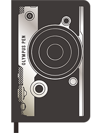 Moleskine Custom Edition Hard Cover Notebook with Olympus camera cover design