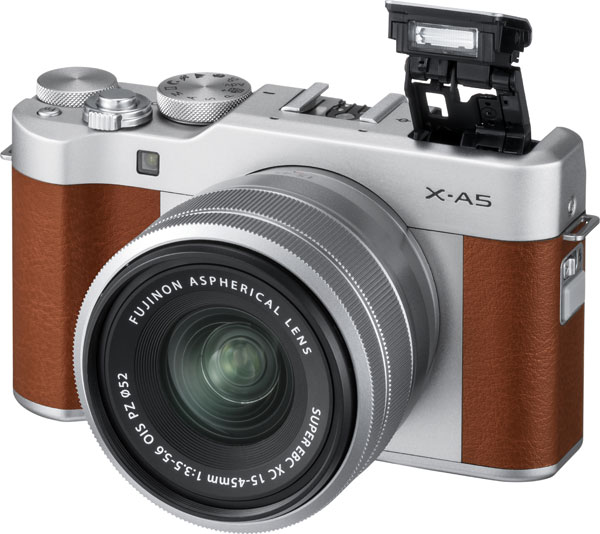 FUJIFILM X-A5, brown: Built-in flash
