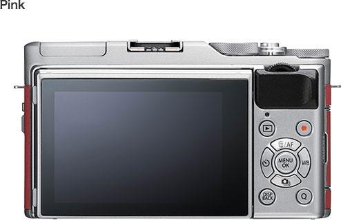 FUJIFILM X-A5, pink, with FUJINON XC15-45mmF3.5-5.6 OIS PZ lens