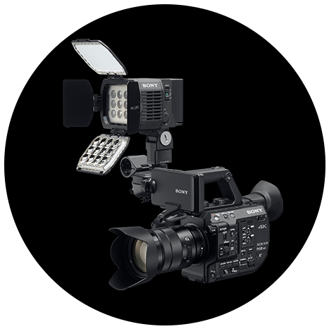 Sony FS5 II: Multi-interface (MI) Shoe