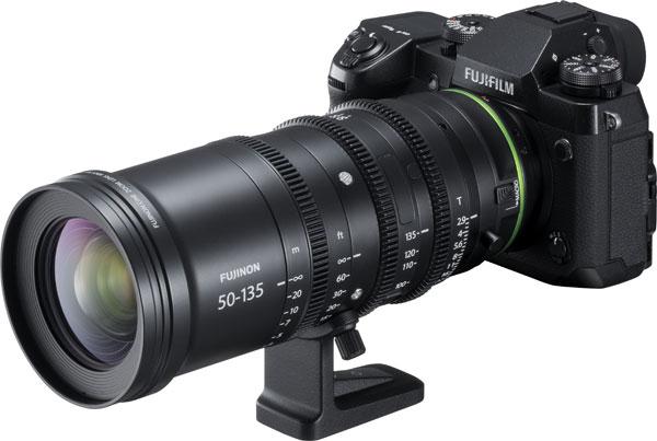 FUJIFILM X-H1 camera with FUJINON MKX50-135mmT2.9 cinema lens