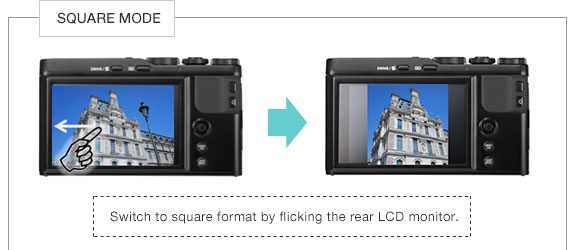 Fujifilm XF10: SQUARE MODE