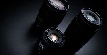 Fujifilm (counterclockwise): FUJINON GF45-100mmF4 R LM OIS WR Mid-Telephoto Zoom, FUJINON GF50mmF3.5 R LM WR Compact Prime, FUJINON GF100-200mmF5.6 R LM OIS WR Telephoto Zoom