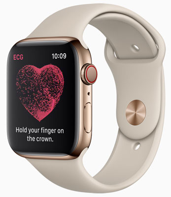 Apple Watch Series 4: The new ECG app and electrical heart rate sensor enable customers to take an electrocardiogram right from the wrist.