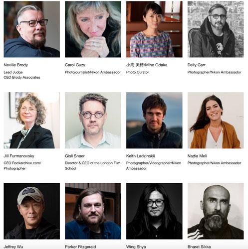 Nikon Photo Contest's judges, 2018-2019
