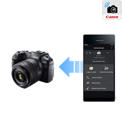 Canon's Camera Connect app uses the EOS RP camera's built-in Wi-Fi® and Bluetooth® compatibility to connect to a compatible mobile device.
