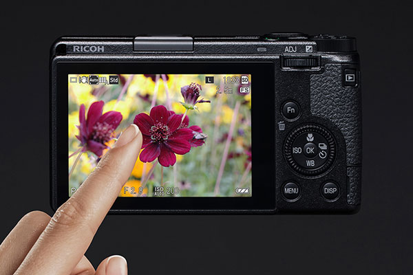 RICOH GR III camera's high-definition LCD monitor features touchscreen operation: Image Courtesy of Ricoh