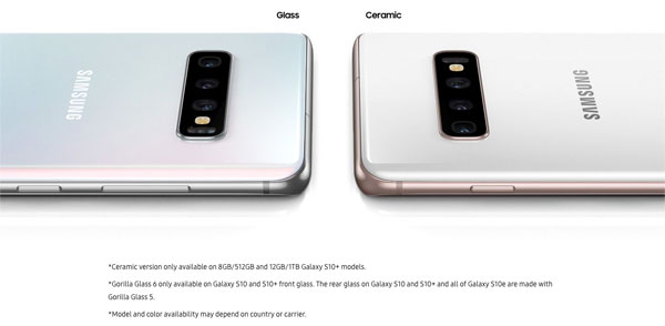 Samsung Galaxy S10+ (512GB and 1TB variant) is also available in two, all-new, ceramic models: Ceramic Black and Ceramic White