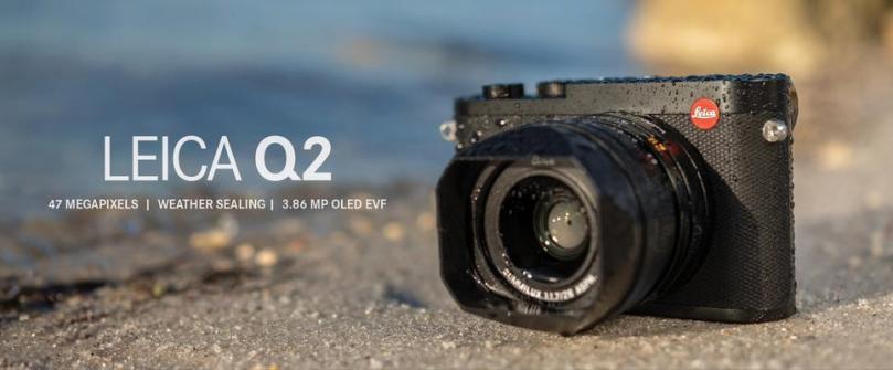 Leica Q2 with a lens hood