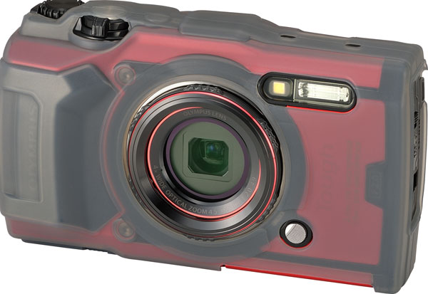Olympus TOUGH TG-6 (red) with Silicone Jacket, CSCH-127