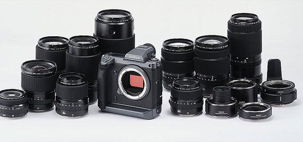 Fujifilm GFX100 camera and FUJINON GF lenses