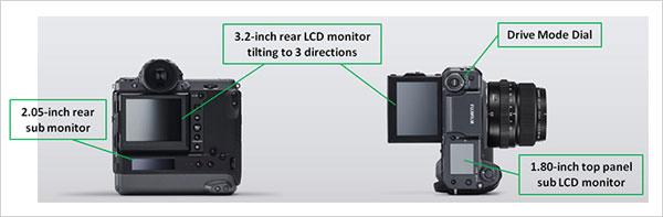Fujifilm GFX100: Monitors