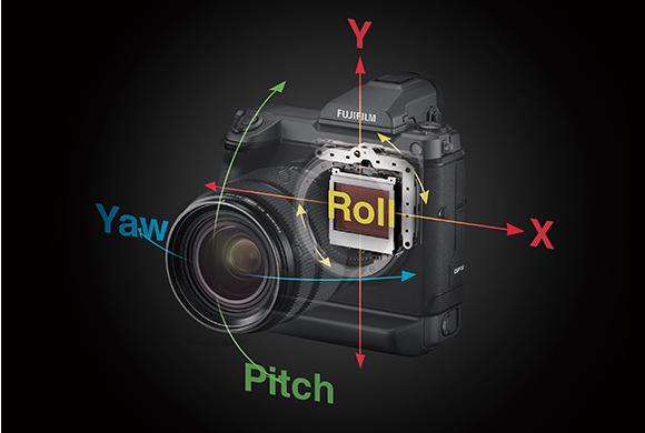 Fujifilm GFX100: Five-axis in-body image stabilization (IBIS)