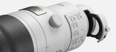 Sony FE 600mm F4 GM OSS: A drop-in filter slot