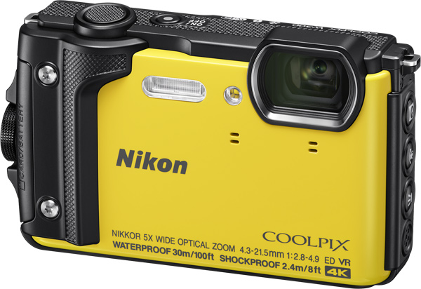 Nikon COOLPIX W300, yellow, a high-performance outdoor model with support for 4K UHD movies & tough durability