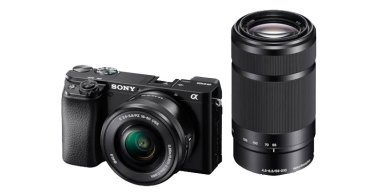 Sony a6100 with E PZ 16–50 mm F3.5–5.6 OSS lens and E 55–210 mm F4.5-6.3 OSS lens