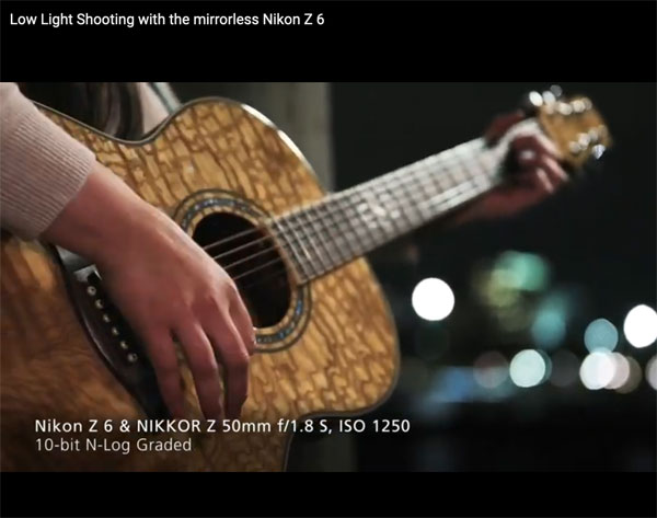 Nikon Z6: Image grab from second video above