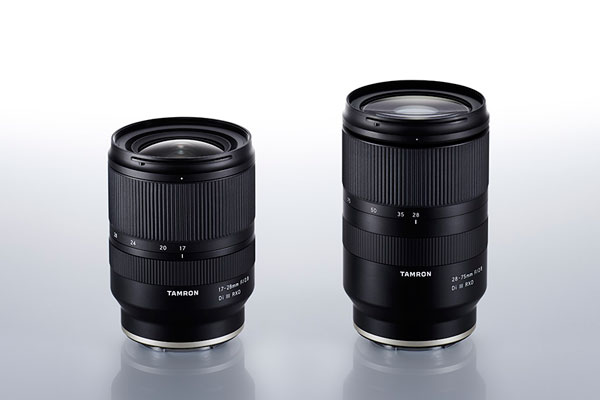 Tamron Lenses (left to right): Tamron 17-28mm F/2.8 Di III RXD zoom (Model A046), and Tamron 28-75mm F2.8 Di III RXD zoom (Model A036)
