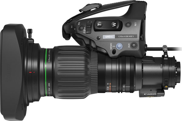 CJ15ex4.3B 4K UHD portable lens incorporates a digital drive unit which features the 16-bit absolute value encoder
