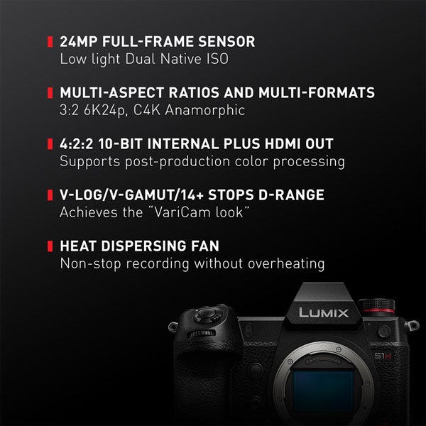 Panasonic LUMIX S1H: Key highlights